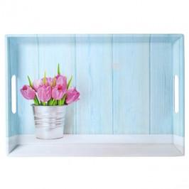 Kesper Servírovací tác motiv tulipány 50 x 35cm