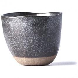 Made In Japan Hrnek bez ucha s nepravidelným okrajem Tea Cup hnědý 180 ml