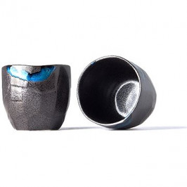 Made In Japan Hrnek bez ucha s nepravidelným okrajem Tea Cup černý 280 ml