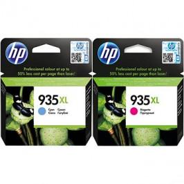 HP C2P24AE + HP C2P25AE č. 935XL azurová + purpurová
