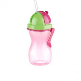 TESCOMA Dětská láhev s brčkem BAMBINI 300ml, růžová