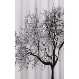 Aqualine polyester černá/bílá strom ZP008 180 x 200 cm