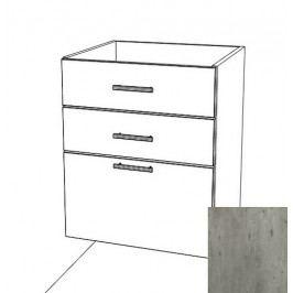 Kuchyňská skříňka zásuvková spodní Naturel Gia 60 cm beton BZ36072BE