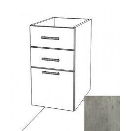 Kuchyňská skříňka zásuvková spodní Naturel Gia 40x72 cm beton BZ34072BE