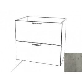 Kuchyňská skříňka zásuvková spodní Naturel Gia 80 cm beton BZ28072BE