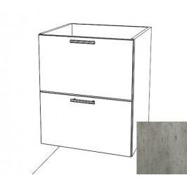 Kuchyňská skříňka zásuvková spodní Naturel Gia 60 cm beton BZ26072BE