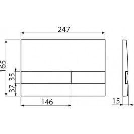 Ovládací tlačítko Alcaplast plast černá - M1728-5