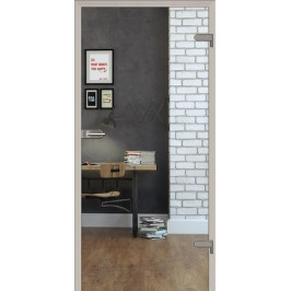 Skleněné dveře Naturel Glasa levé 60 cm čiré GLASA1C60L