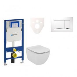 Závěsný set WC TESI Rimless + modul Geberit Duofix s tlačítkem Sigma 30 (bílá/chrom lesk) 111.300.00.5 NE5