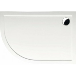 Sprchová vanička čtvrtkruhová Polysan Rena 100x80 cm litý mramor 76511