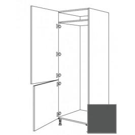 Kuchyňská skříňka vysoká Naturel Terry24 pro lednici 60 cm břidlicová šedá 334.GD17802.L