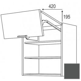 Kuchyňská skříňka horní Naturel Terry24 zlamovací 90 cm břidlicová šedá 334.WFL9002