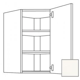 Kuchyňská skříňka horní Naturel Erika24 rohová 60 cm bílá lesk 450.WED6002.R