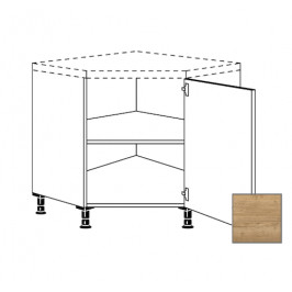 Kuchyňská skříňka spodní Naturel Sente24 rohová 90 cm dub sierra 405.UED90.R