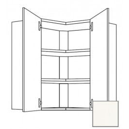 Kuchyňská skříňka horní Naturel Erika24 rohová 60 cm bílá lesk 450.WE6002L