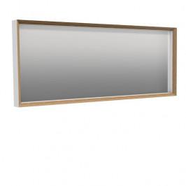 Zrcadlo Naturel Oxo Multi 40x100 cm bílá mat/buk OXOMULTIZRC40100