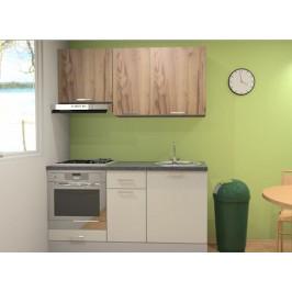 Kuchyňská linka Naturel Gia 160 cm bílá-dub mat KUCHSETG22