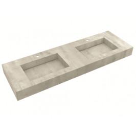 Deska se zabudovaným umyvadlem Salgar Compakt 150x12x51 cm beton 87245.150