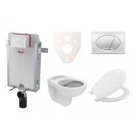 Závěsný set WC S-Line PRO rimless, nádržka Alcaplast Renovmodul, tlačítko chrom lesk SIKOAP2
