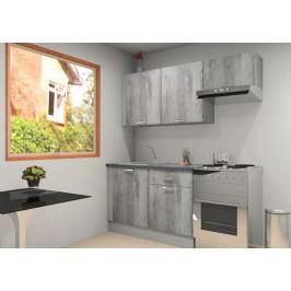 Kuchyňská linka Naturel Gia 180-190 cm beton KUCHSETG16
