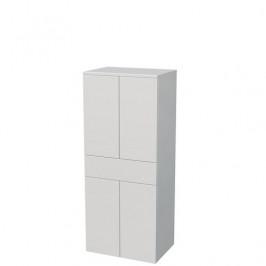 Koupelnová skříňka vysoká Naturel Ratio 50x122x35 cm bílá mat SS501Z4DPU9016M