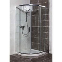 Sprchový kout Anima TEX čtvrtkruh 90 cm, R 550, čiré sklo, chrom profil, univerzální SIKOTEXS90CRT