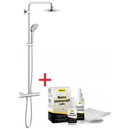 Sprchový systém Grohe s termostatickou baterií, 3 funkce, oblý design SIKOBGSST1