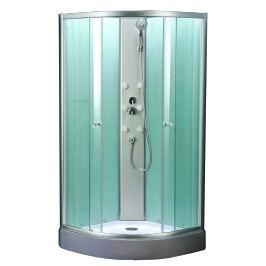 Sprchový box Multi Mbox čtvrtkruh 90 cm, R 550, čiré sklo, chrom profil MBOX