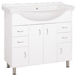 Skříňka s umyvadlem Keramia Pro 90 cm, bílá PRO90DV