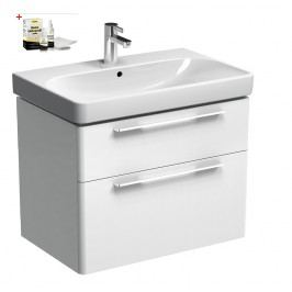 Skříňka s umyvadlem Kolo Kolo 75 cm, bílá lesklá SIKONKOT75BL