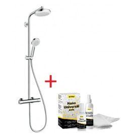 Sprchový systém Hansgrohe s termostatickou baterií, 4 funkce, oblý SIKOBHGSSCE