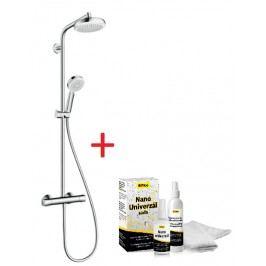 Sprchový systém Hansgrohe s termostatickou baterií, 4 funkce, oblý SIKOBHGSSC