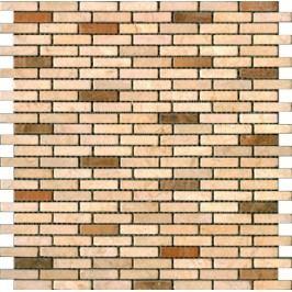 Premium Mosaic Stone Kamenná mozaika krém.-oranž. cihly 1/4 STMOS1040CRW