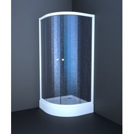 Sprchový kout Anima T-Element čtvrtkruh 80 cm, R 550, neprůhledné sklo, bílý profil TES80CH