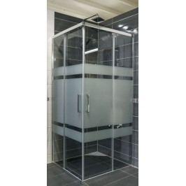 Sprchový kout Anima TEX čtverec 90 cm, sklo stripe, chrom profil, univerzální SIKOTEXQ90CRS