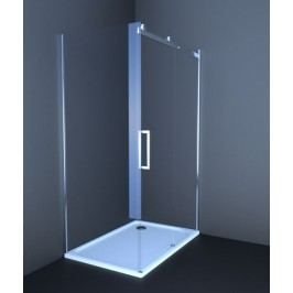 Sprchový kout Anima T-Linea obdélník 80 cm, čiré sklo, chrom profil TL12080TPSET