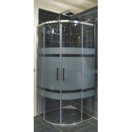 Sprchový kout Anima TEX čtvrtkruh 90 cm, R 550, sklo stripe, chrom profil, univerzální SIKOTEXS90CRS