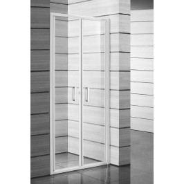 Sprchové dveře Jika Lyra plus dvoukřídlé 80 cm, čiré sklo, bílý profil H2563810006681