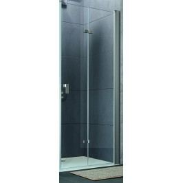 Sprchové dveře Huppe Design Pure skládací 70 cm, čiré sklo, chrom profil DPUSD70190CRTP