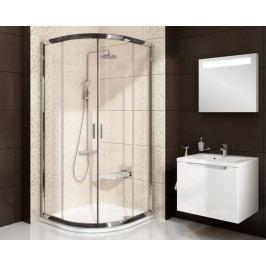 Sprchový kout Ravak Serie 200 čtvrtkruh 90 cm, čiré sklo, satin profil 3B270U00Z1