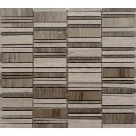 Premium Mosaic Stone Kamenná mozaika mix šedá 2,5/7 STMOS2570GY