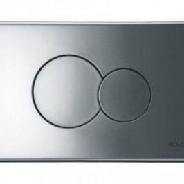 Dvojčinné ovládací tlačítko Kolo Elipse, matný chrom 94150003