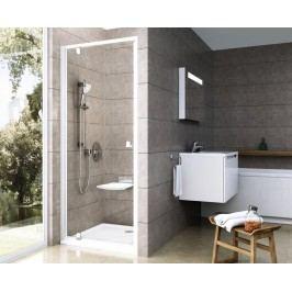 Sprchové dveře Ravak Serie 300 jednokřídlé 90 cm, čiré sklo, satin profil 03G70U00Z1