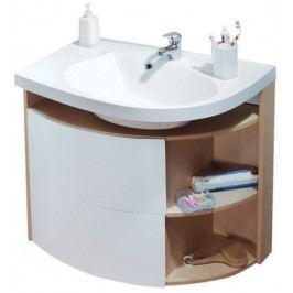 Skříňka pod umyvadlo Ravak Rosa 78 cm, bílá/bříza X000000162
