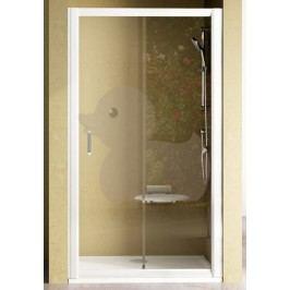 Sprchové dveře Ravak Rapier jednokřídlé 110 cm, čiré sklo, satin profil 0NND0U0PZ1