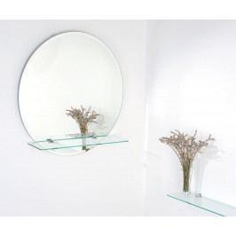 Zrcadlo Georgina 60x60 cm, s poličkou ZJI60F