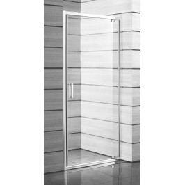 Sprchové dveře Jika Lyra plus jednokřídlé 80 cm, čiré sklo, bílý profil H2543810006681