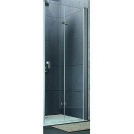 Sprchové dveře Huppe Design Pure skládací 80 cm, čiré sklo, chrom profil DPUSD80190CRTP