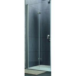 Sprchové dveře Huppe Design Pure skládací 100 cm, čiré sklo, chrom profil DPUSD100190CRT