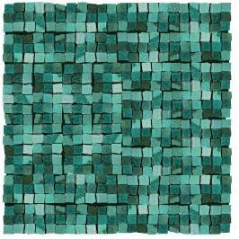 Mozaika Del Conca Corti di Canepa acquamarina mosaic 30x30 cm, lesk CMGMAMOZ